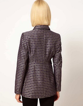Image 2 ofASOS Premium Blazer In Geo Print
