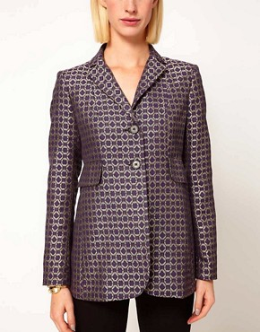 Image 3 ofASOS Premium Blazer In Geo Print