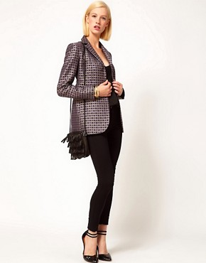 Image 4 ofASOS Premium Blazer In Geo Print