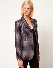 ASOS Premium Blazer In Geo Print