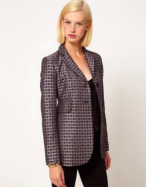 Image 1 ofASOS Premium Blazer In Geo Print