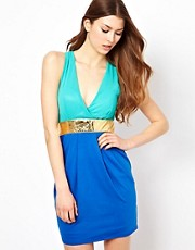 Club L Color Block Dress