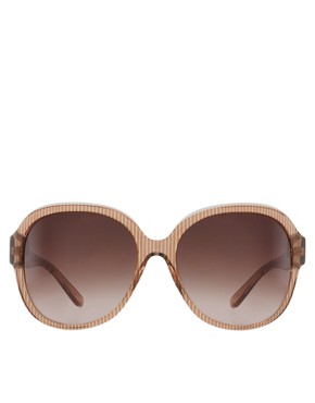 Image 2 ofChloe Oversized Clear Stripe Sunglasses