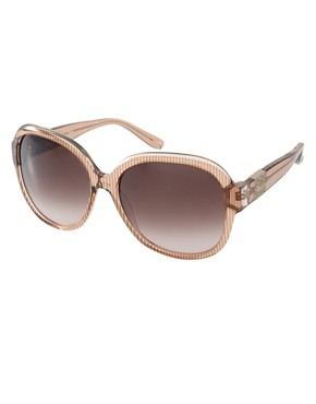 Image 1 ofChloe Oversized Clear Stripe Sunglasses