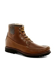 H By Hudson Emerson Shearling Boat Boots