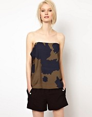 BACK by Ann-Sofie Back Sheer Strap Top in Cow Print