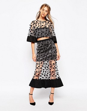 Alice McCall A Little Soul Skirt In Sheer Black