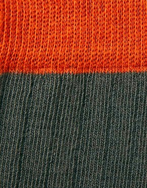Image 2 ofASOS Contrast Rib Over The Knee Sock