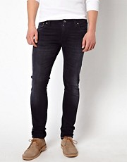 Nudie Jeans Tight Long John Skinny Fit Black and Grey