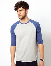 Paul Smith Jeans T-Shirt with Contrast 3/4 Sleeves