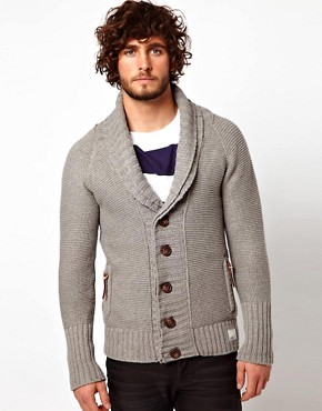 Image 1 ofSuperdry Shawl Quilted Cardigan