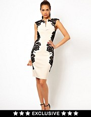 Paper Dolls Mirrored Lace Body-Conscious Dress