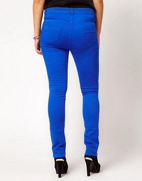 Image 2 ofASOS CURVE Exclusive Skinny In Dazzling Blue #4