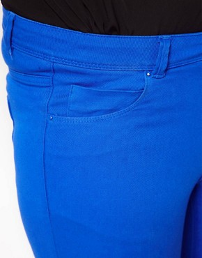 Image 3 of ASOS CURVE Exclusive Skinny In Dazzling Blue #4