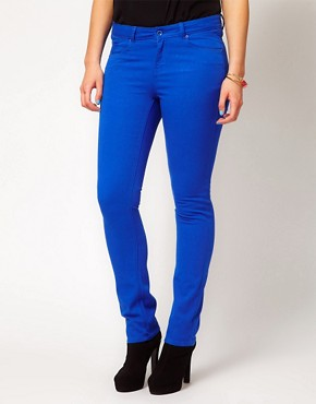 Image 4 of ASOS CURVE Exclusive Skinny In Dazzling Blue #4