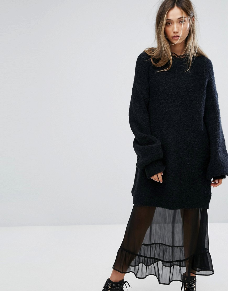 Gestuz Oversized Slouchy Jumper - Black