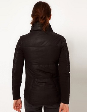 Image 2 ofMuubaa Leather Elymere Padded Jacket