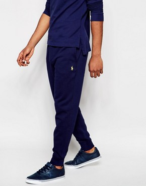 Polo Ralph Lauren Cuffed Joggers In Navy