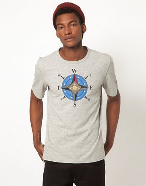 Image 1 ofVivienne Westwood Anglomania For Lee T-Shirt With Orb Compass Print