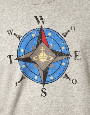 Image 3 ofVivienne Westwood Anglomania For Lee T-Shirt With Orb Compass Print