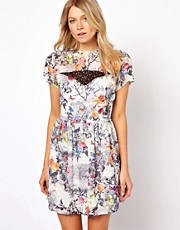 Love Skater Dress In Floral Print