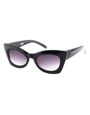 Image 1 ofASOS Solid Black Cat Eye Sunglasses