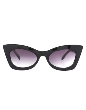 Image 2 ofASOS Solid Black Cat Eye Sunglasses
