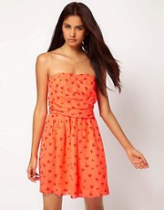 ASOS Bandeau Dress with Strawberry Print