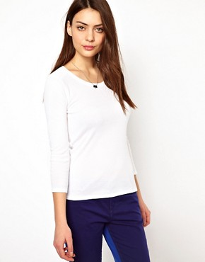 Image 1 ofWhistles Pima Scoop Neck Long Sleeve T-Shirt