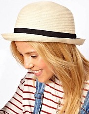 ASOS Straw Roll Brim Boater