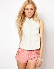 Vero Moda Sleeveless Denim Shirt