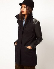 ASOS Studded Shoulder Military Jacket