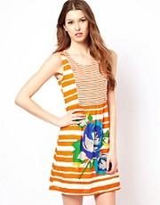 Yumi Striped Jersey Dress