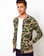 ASOS Bomber With Camo Print