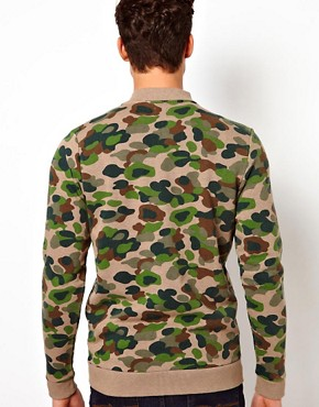 Image 2 ofASOS Bomber With Camo Print