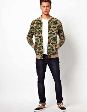 Image 4 ofASOS Bomber With Camo Print