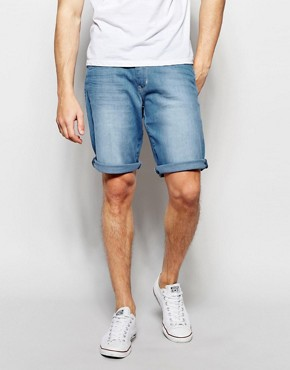 Wrangler Lightwash Shorts in Tropic Wind