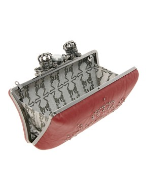 Image 2 ofReligion Embellished Crown Hard Clutch Bag