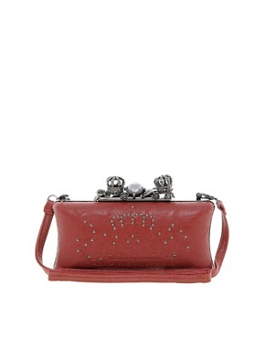 Image 1 ofReligion Embellished Crown Hard Clutch Bag