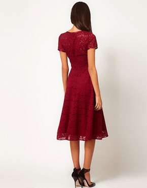 Image 2 ofASOS Midi Dress In Lace