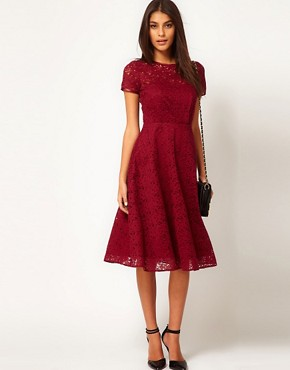 Image 4 ofASOS Midi Dress In Lace