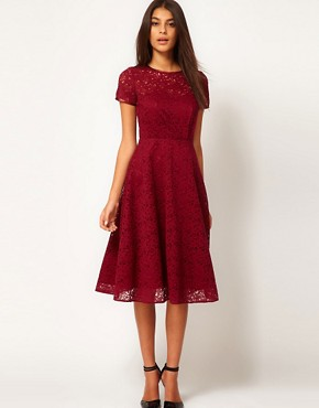 Image 1 ofASOS Midi Dress In Lace
