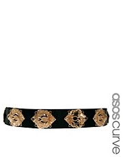 ASOS CURVE Deco Plate Waist Belt