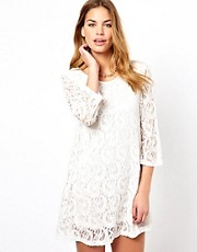 Glamorous Micro Mini Swing Dress In Lace