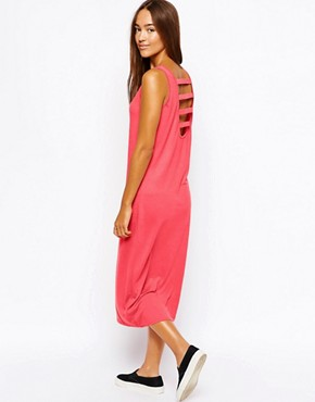 Vero Moda Midi Dress With Strappy Back