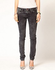 Maison Scotch La Parisienne Jeans in Bleached Black