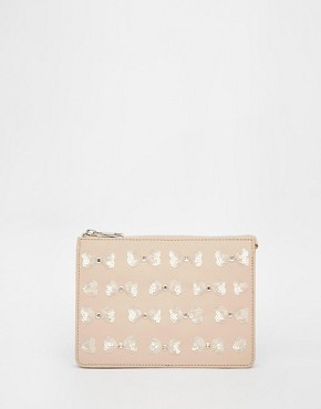 ASOS Embellished Bow Concertina Clutch Bag