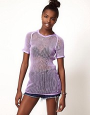 Reclaimed Loose Knit Top in Pastel Colours