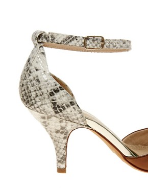 Image 2 ofALDO Heliette Snake Print Ankle Strap Court Shoes