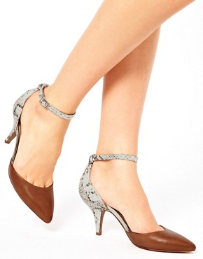 Image 3 ofALDO Heliette Snake Print Ankle Strap Court Shoes